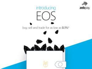 Zebpay add EOS