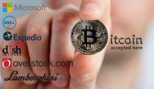 Bitcoin accepting companies