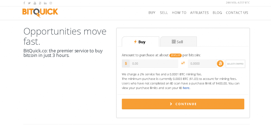 BitQuick.  Échange P2P