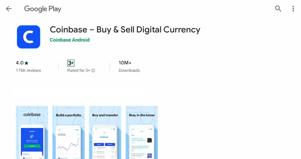 about coinbase app